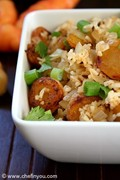 Fried (oca) potato rice