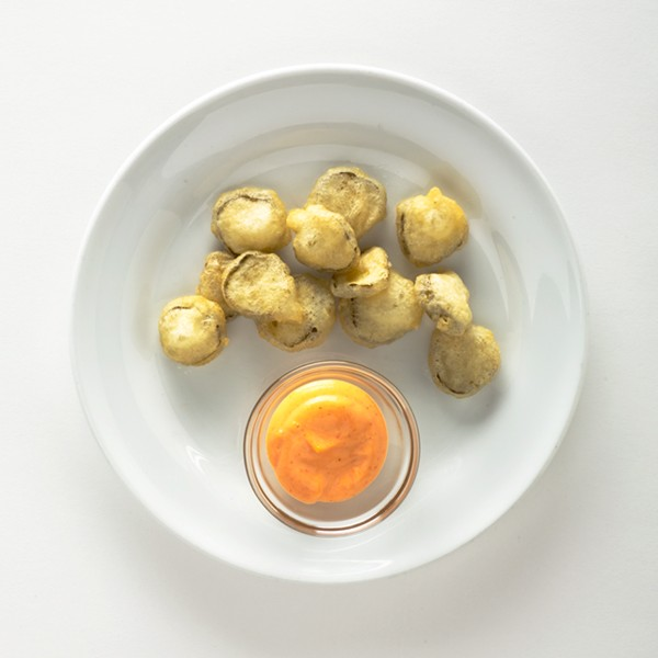 Fried pickles with spicy mayo (page 15)