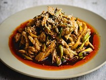 Fuchsia Dunlop's cold chicken with a spicy Sichuanese sauce (Liang ban ji) [Cook the Book]