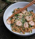 Fuchsia Dunlop's spicy peanut butter noodles (with prawns)