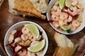 Garlicky stir-fried shrimp (Camarones al ajillo) plus garlic butter enrichment (Ajo preparado)