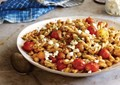 Gemelli with blistered cherry tomatoes, chickpeas, and smoked paprika