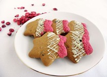 Gluten-free cranberry and white chocolate star biscuits
