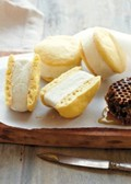 Got your goat: frozen honey-vanilla goat's milk on sugar cone cookies