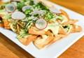 Green chile chicken nachos