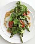 Grilled asparagus with fava beans & mustard