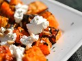 Grilled butternut squash with fresh ricotta, pine nuts, and sage