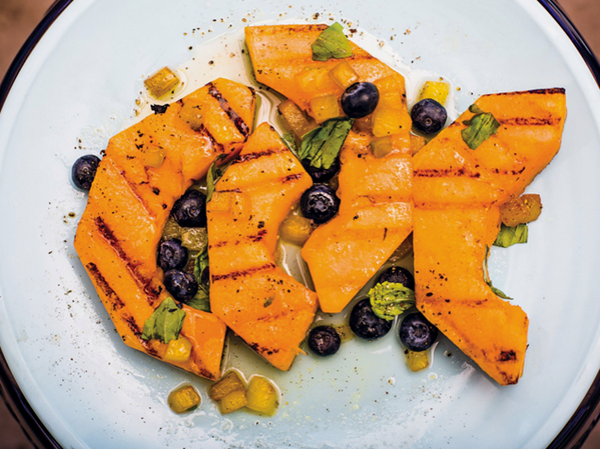grilled cantaloupe from Saveur Magazine