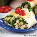 Grilled chicken & zucchini wraps
