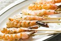 Grilled garlic shrimp skewers