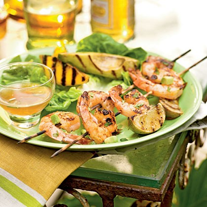 Roasted rosemary shrimp with arugula and white bean salad (page 128)