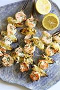 Grilled shrimp scampi skewers