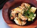 Grilled shrimp with garlic and lemon