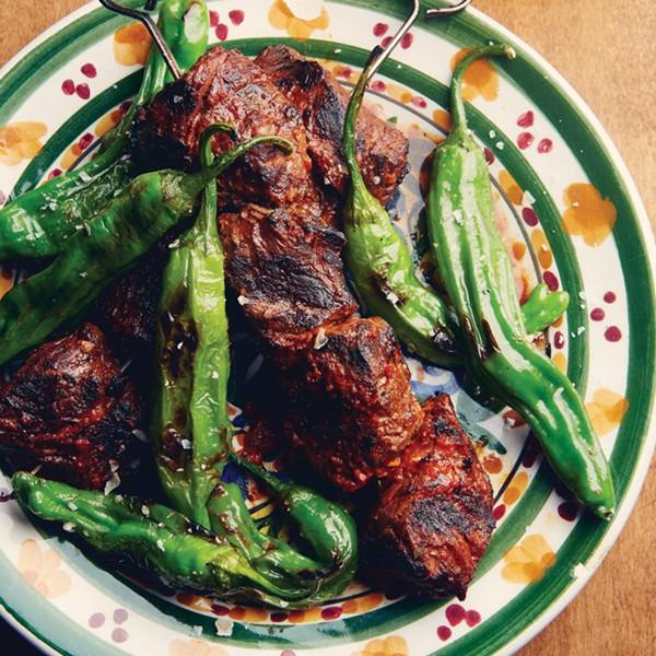 Shisito Peppers With Pomegranate Caviar Recipes — Dishmaps