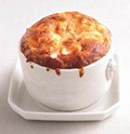 Grits, cheese, and onion soufflés