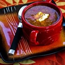 Ground beef and sauerkraut soup
