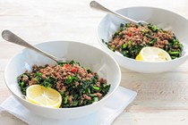 Ground beef with kale