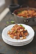 Happiness pasta, sweet tomato, aubergine & ricotta