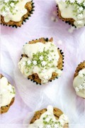 Hazelnut and carrot cupcakes (Cupcakes aux noisettes et aux carottes)