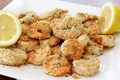 Healthy breaded shrimp