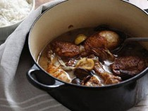 Hearty chicken with chestnuts and mushrooms - hearty chicken with chestnuts and mushrooms
