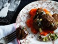 Helga's meatballs and gravy with carrot-apple mashed potatoes from 'Marcus Off Duty' (Cook the Book)