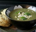 Herb, chard, and feta soup