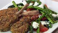 Herb-crumbed lamb cutlets with asparagus
