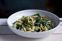 Herb-crushed pasta