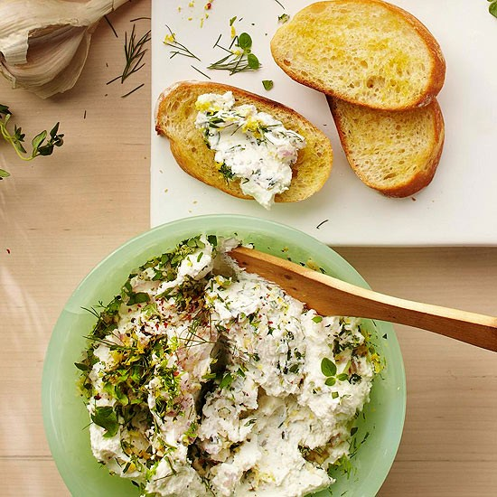 Herbed goat cheese spread (page 127)