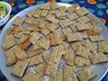 Homemade crackers and hummus