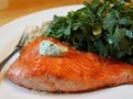How to sear salmon in a cast iron skillet on a grill