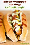 Icelandic bacon-wrapped hot dogs