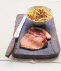 'Indian coleslaw' with simple roast gammon