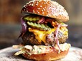 Insanity burger from 'Jamie Oliver's Comfort Food' (Cook the Book)