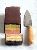 Italian tricolor rainbow cookies