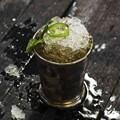 Jalapeño spiked bourbon julep