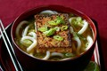 Japanese chilli tofu with udon noodles