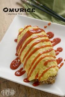 Japanese rice omelet (Omurice)