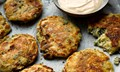 Kale and cheese pikelets