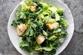Kale Caesar salad with creamy Parmesan dressing