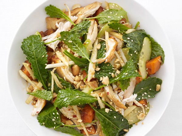 ... & apple salad with caramel vinaigrette chicken (the best fall salad