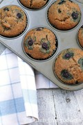 Karina's gluten-free blueberry muffins with hazelnut and coconut flour