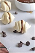 Kicked up maple meringues with dark chocolate