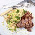 Lamb and avocado quinoa salad
