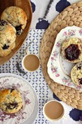 Lavender blackberry scones