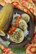 Lebanese stuffed courgettes (Kousa mahshi)