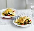 Lemon & pepper fish with roasted veg