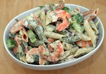 Lemon-dill shrimp and pasta salad