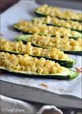 Lemony-pasta stuffed zucchini